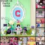 Sweet 16 Party Birthday Table Decorating Ideas