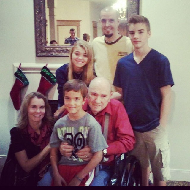 Love you and we'll miss you grandpa. 10/29/14 (picture from Christmas 2012)