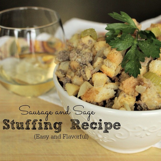 Looking for a stuffing recipe for Thanksgiving? This one is made with sausage and sage and is delicious!