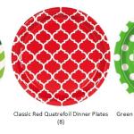 Christmas paper plates