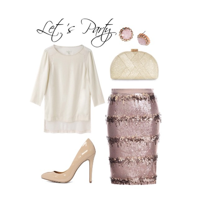 Happy Thursday! Here's another outfit idea for a Holiday party. The skirt is called 'champagne drip'. Perfection. See outfit details at www.momfabulous.com