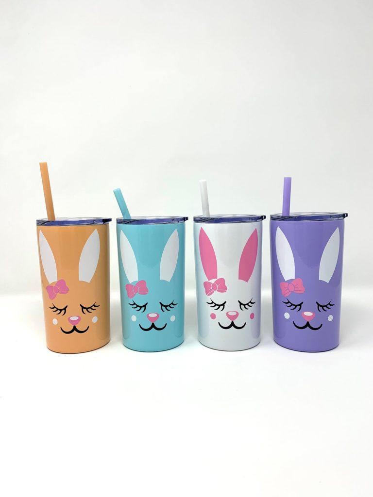 easter rabbit water bottle tumbler
