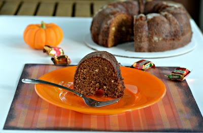 Caramel Apple Milky Way Bundt Cake