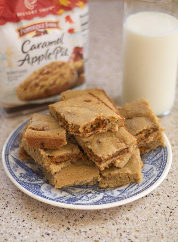 Caramel Apple Pie Stuffed Blondies