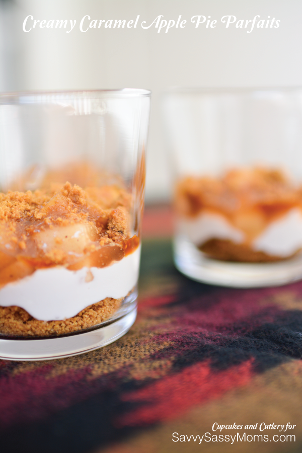 Creamy Caramel Apple Pie Parfaits