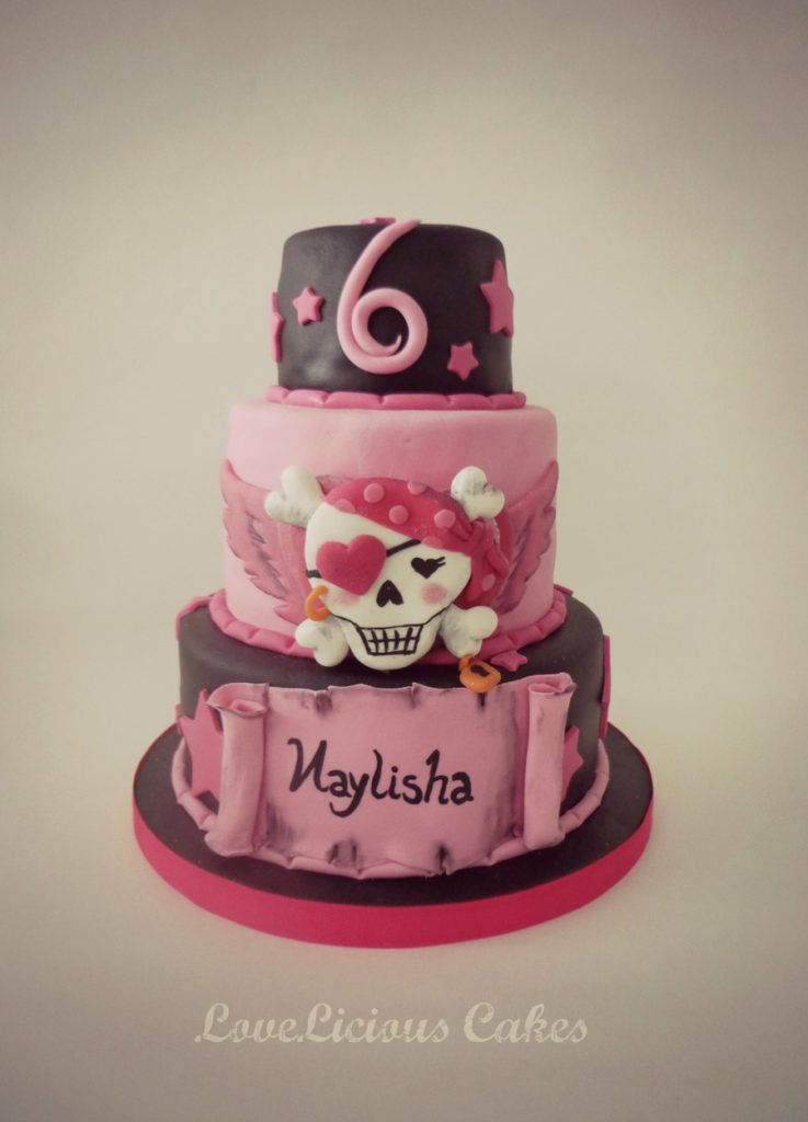 Girl's Pirate Birthday Cake