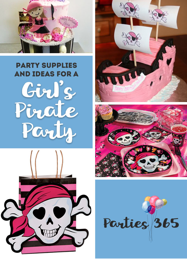 pink pirate birthday party ideas and supplies