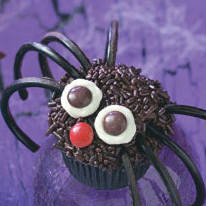 spider cupcake for halloween