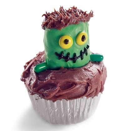 Frankenstein Halloween Cupcake