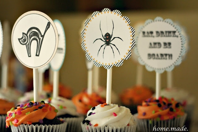 cupcake toppers for Halloween Cupcakes