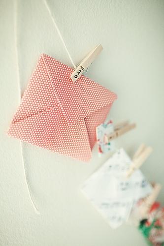 DIY advent calendar idea with envelopes