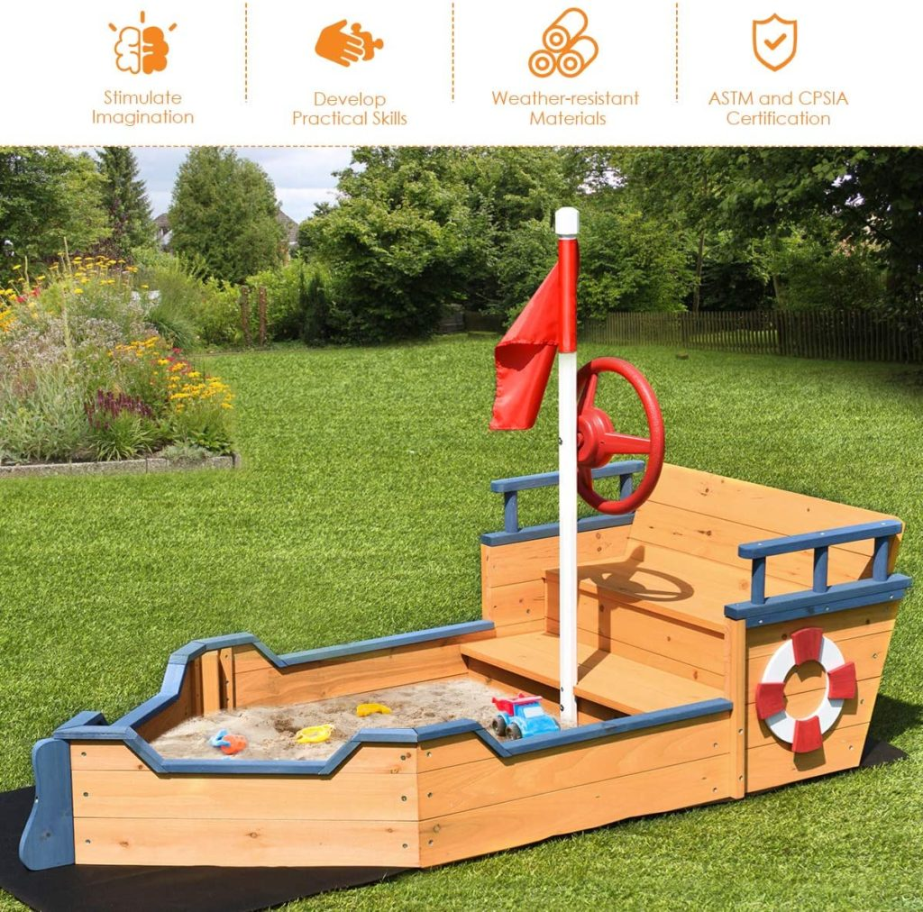 pirate ship sandbox