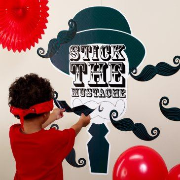 Stick the Mustache Party Game