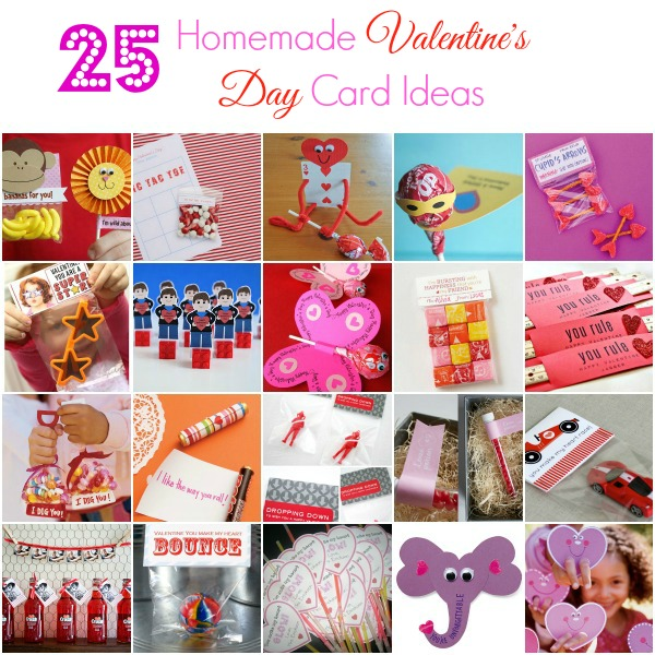Here are 25 creative and fun homemade Valentine's Day card ideas for kids! Whether you want a special DIY craft for your family or need something for the kids classroom, you're sure to find the perfect one right here! #valentinesday #valentinesdaycard #valentinescard #valentinesprintable