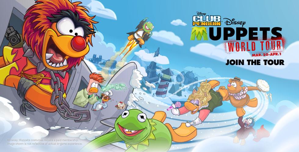 Club Penguin Muppets World Tour 01