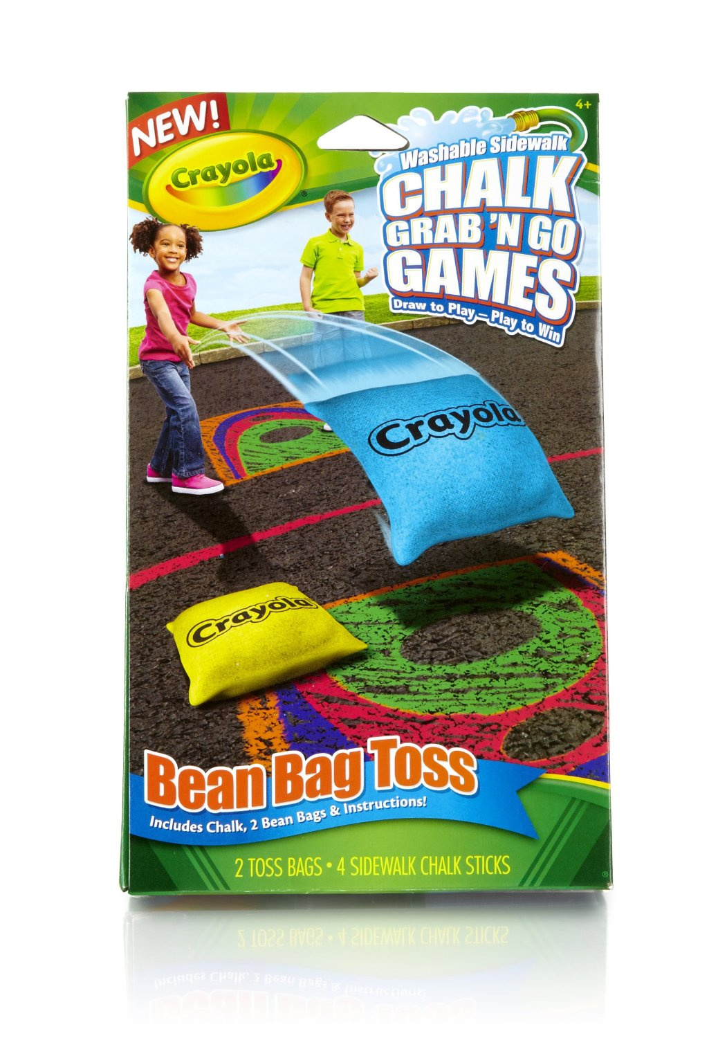 Crayola Bean Bag Toss Chalk Grab and Go Games, sidewalk chalk, outdoor game ideas for kids, chalk, crayola