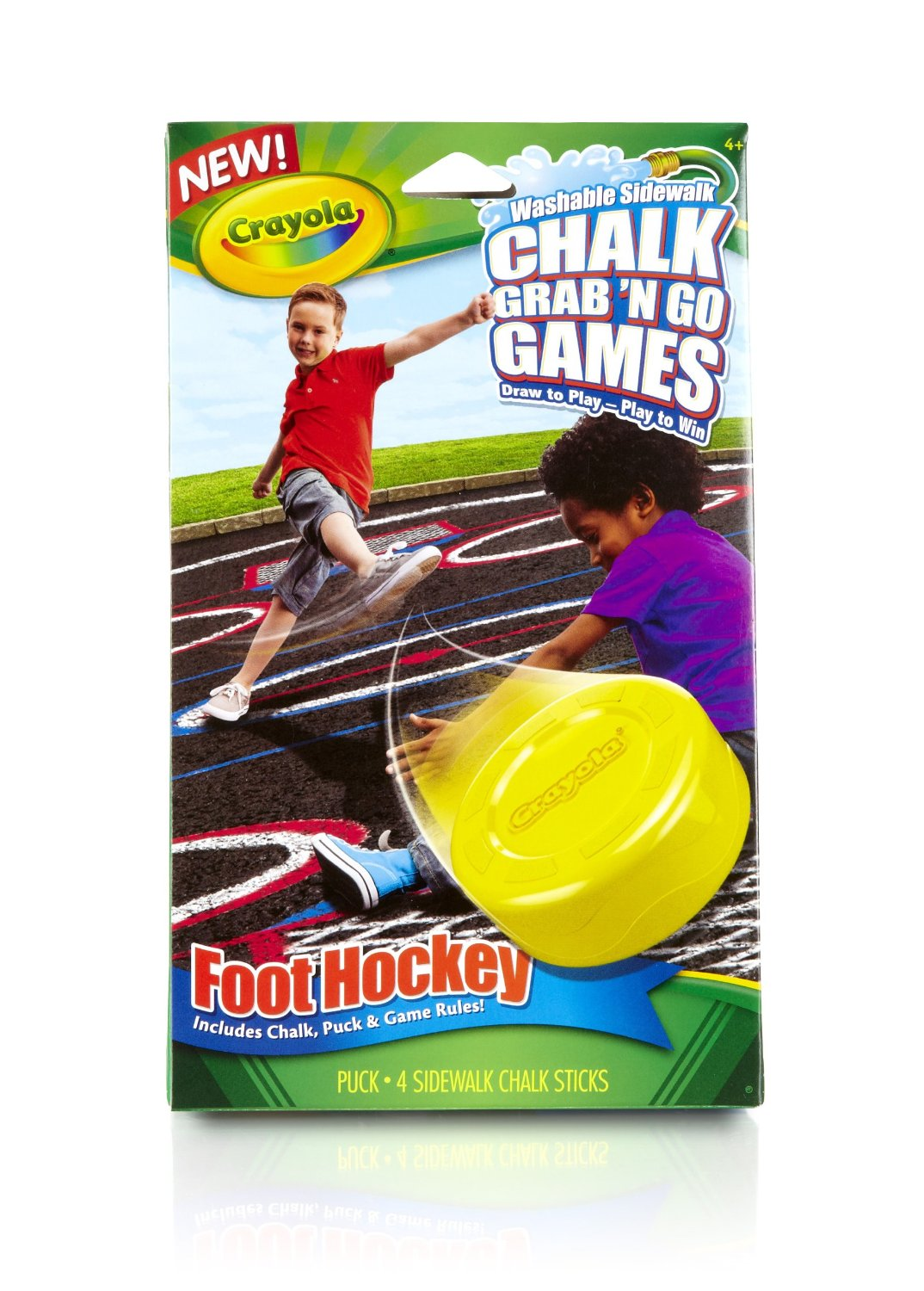 Crayola Foot Hockey Chalk Grab and Go Games, sidewalk chalk, outdoor games for kids, crayola,
