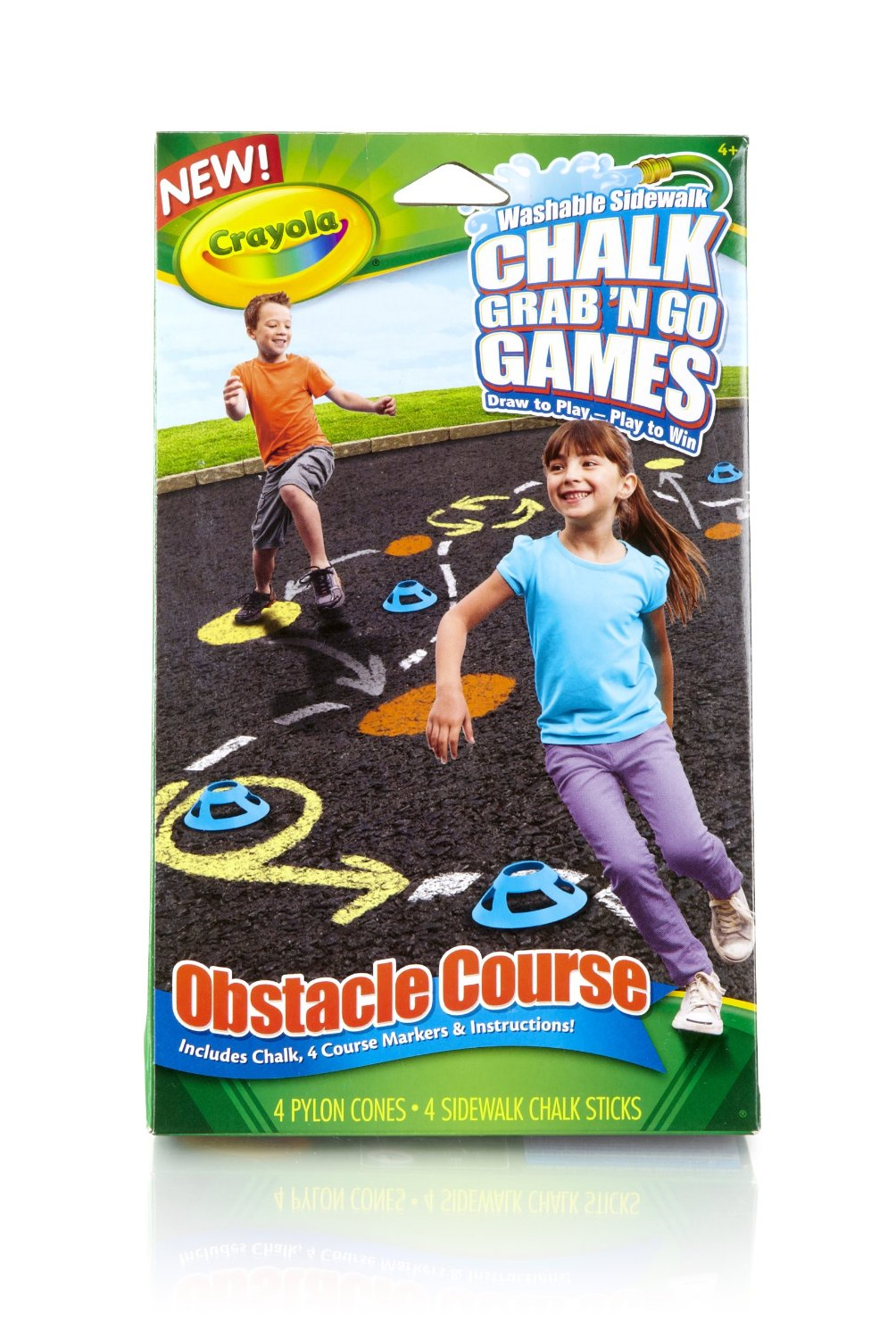 Crayola Obstacle Course Chalk Grab and Go Games, sidewalk chalk, crayola, outdoor game ideas for kids