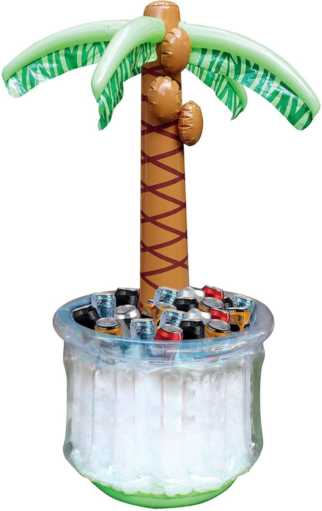 inflatable palm tree drink cooler