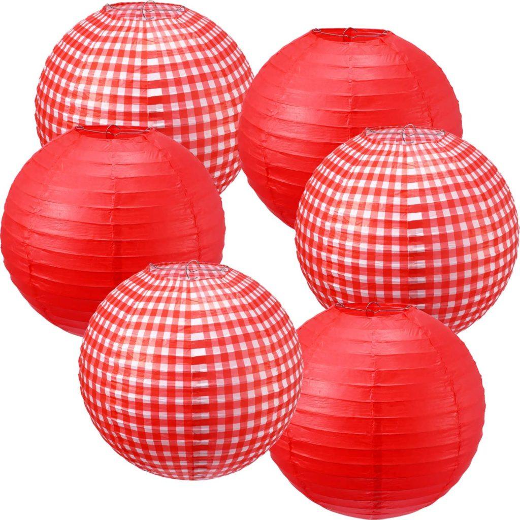 picnic paper lanterns