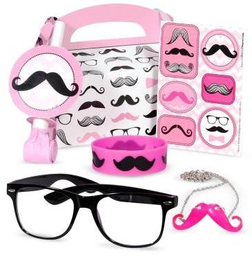 Pink mustache party favor box, party favor boxes, birthday party ideas for girls, girls birthday party ideas
