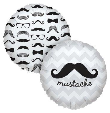 mustache balloon, mustache party supplies, supplies for a mustache party