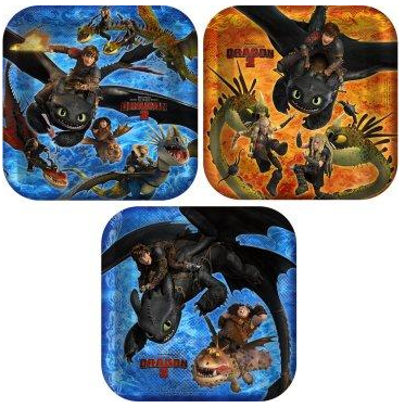How to Train Your Dragon 2 Dinner Plates, how to train your dragon 2 party supplies