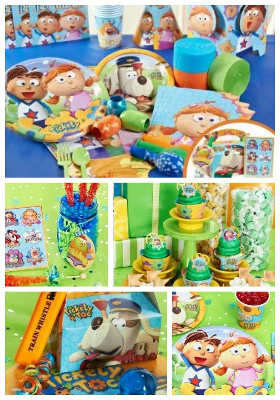 Tickety Toc Birthday Supplies, Tickety Toc, Nick Jr Shows, Tickety Toc Party