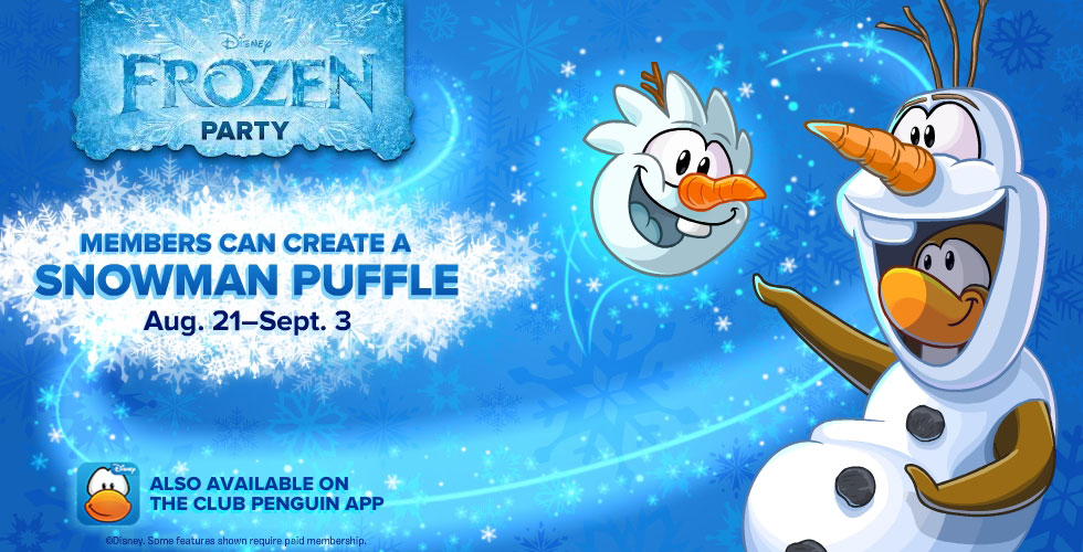 Disney Frozen Club Penguin, Elsa Club Penguin, Anna Club Penguin, Olaf Club Pengion