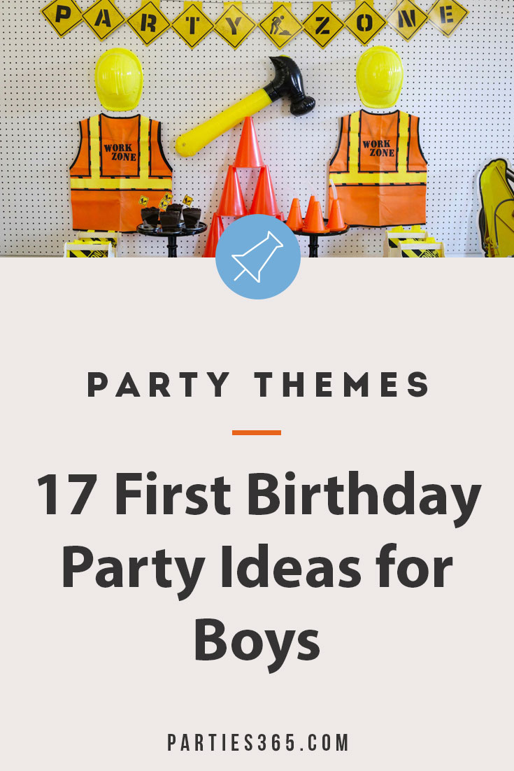 boy first birthday party ideas