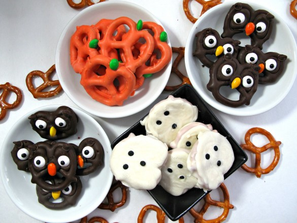 Halloween Party Food Ideas for Kids | Halloween Pretzel Treats