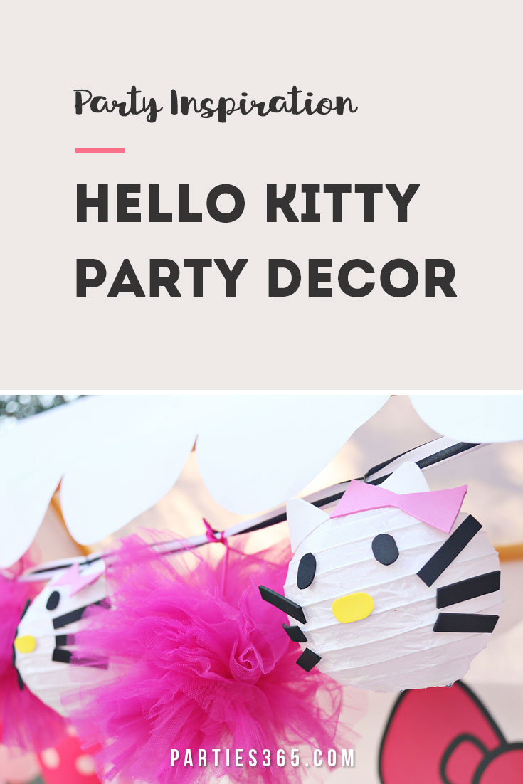 hello kitty party decor ideas