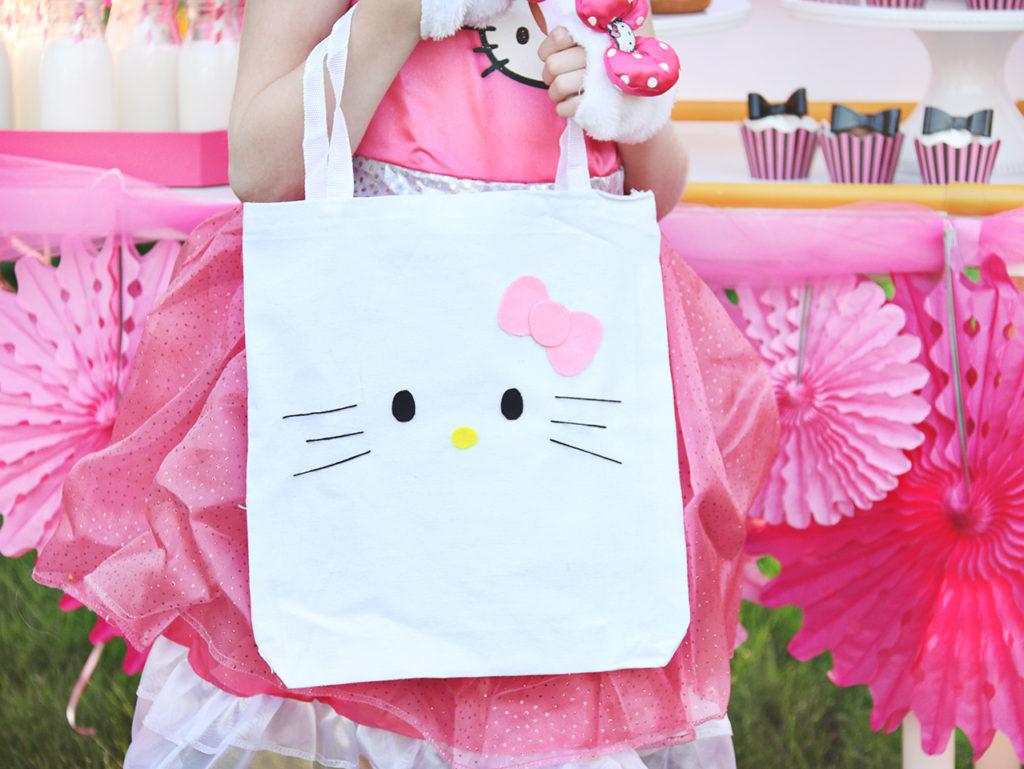 DIY Hello Kitty tote bag or favor bag