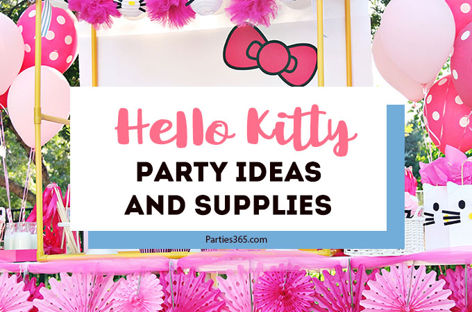 A Hello Kitty Birthday Party is the purrfect theme for a girl's party! We've found some of the most adorable ideas, activities, favors and supplies that are sure to inspire you! #hellokitty #partysupplies #parties365