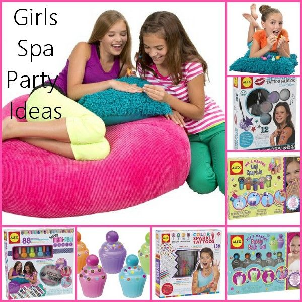 Hosting a Girl's Spa Party and need gift or activity ideas? From mani pedi kits to DIY makeup and things for her hair, we have the best spa activities for you! #spaparty #partyactivities #birthday
