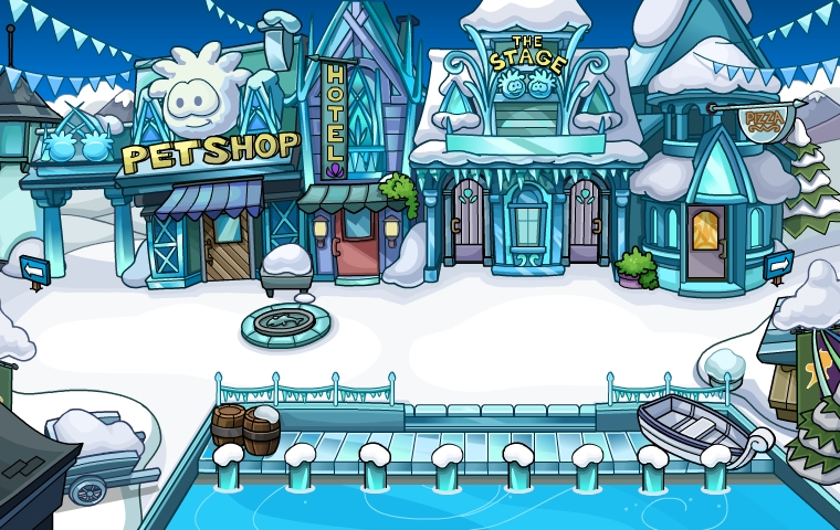 Disney Frozen Club Penguin, Frozen Club Penguin Plaza