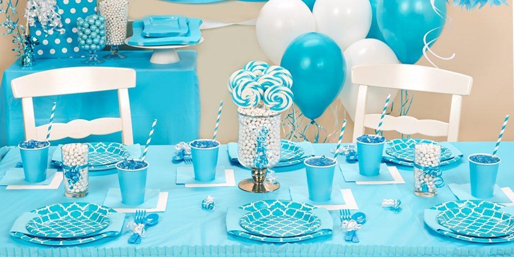 Bermuda Blue Quatrefoil Party Packs