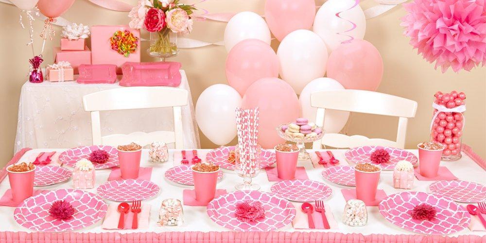Candy Pink Quatrefoil