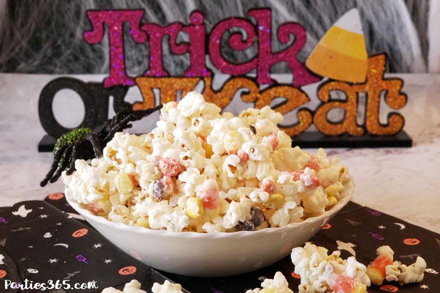 Halloween monster munch popcorn treat