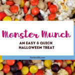 Looking for an easy Halloween Treat for an upcoming Halloween Party? This Monster Munch is spook-tacular and sure to please! Halloween Treats   Halloween Party Food   Halloween Popcorn