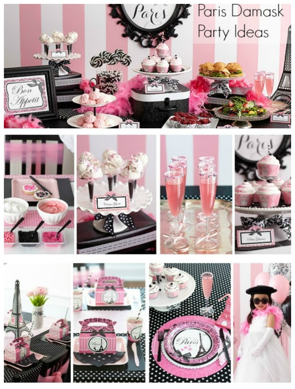 Looking for Paris Themed Birthday Party ideas for your next celebration? We have some really cute ideas for decor, supplies and food! #Paris #Birthday #ParisParty #partysupplies