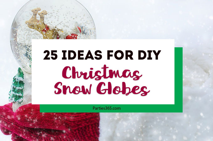 Wondering how to make homemade snow globes for Christmas? If you're looking for DIY crafts for kids or yourself, we have 25 unique snow globe ideas for you from mason jars to ornaments to legos, you'll have plenty of inspiration! #Christmascrafts #holidaydecor #diygifts #holidays