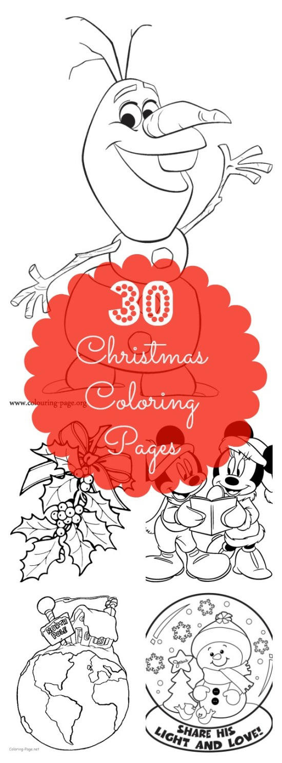 We've rounded up 30 fun Coloring Pages for Christmas that will keep your kids busy over break! | Christmas Crafts | Christmas Coloring Pages for Kids