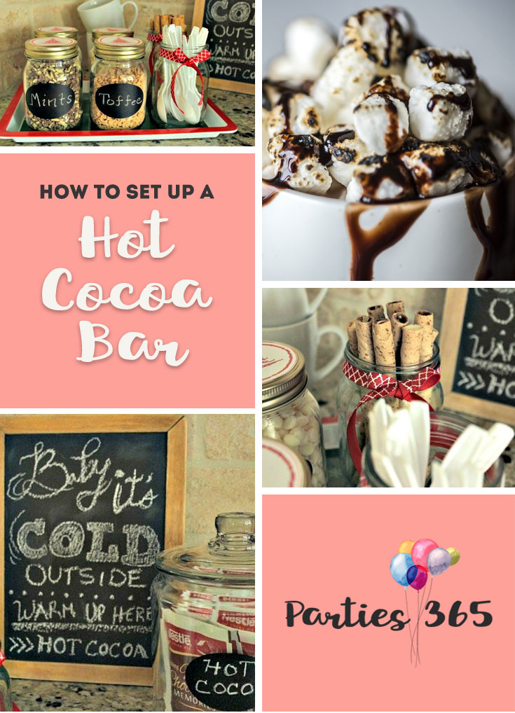 What's better than hot chocolate over the holidays? Here's everything you need to setup a Hot Cocoa Bar in your home this winter.   Hot Cocoa Bar   Hot Chocolate Bar   Hot Chocolate