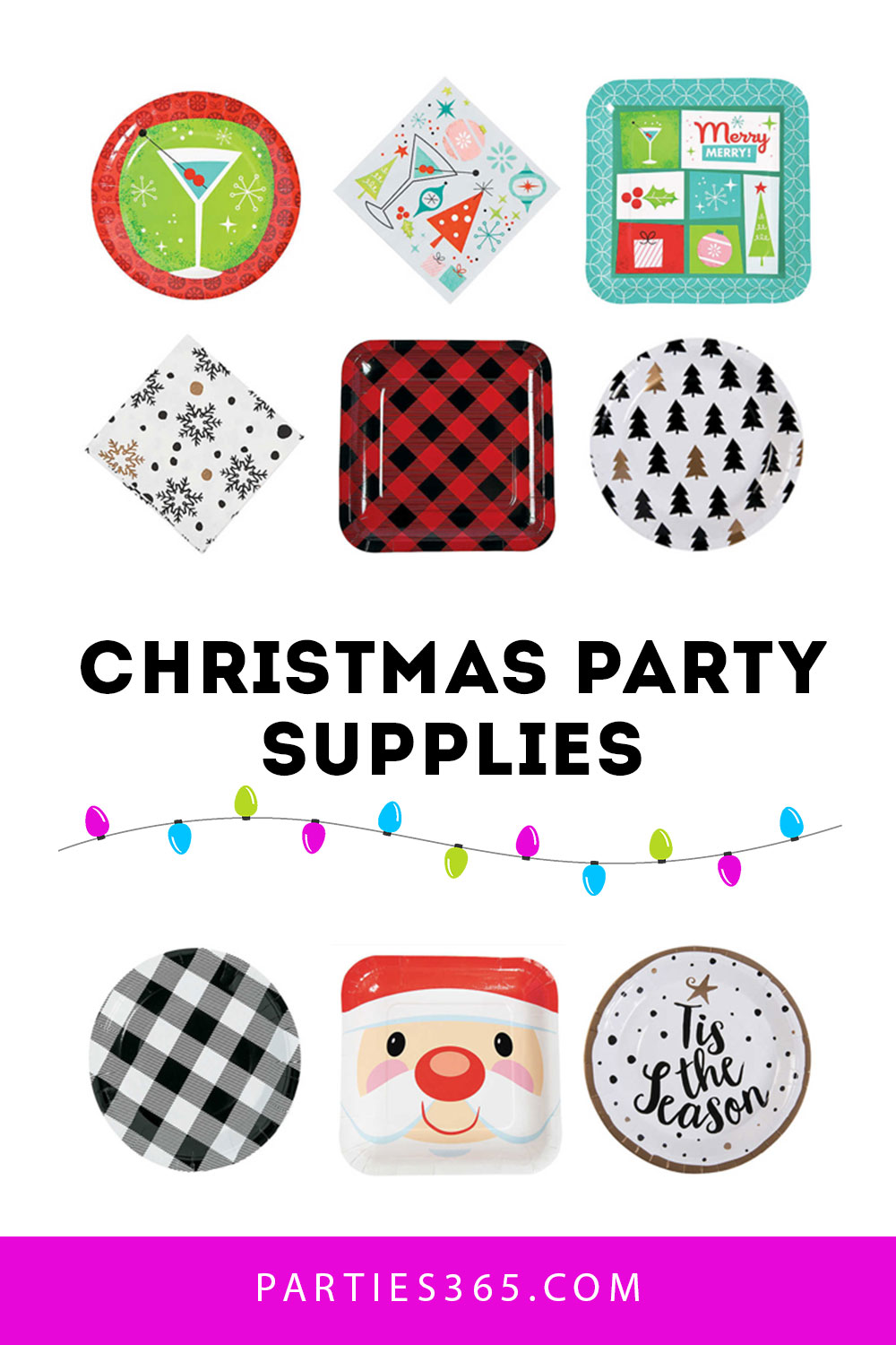 ideas for christmas party supplies and plates