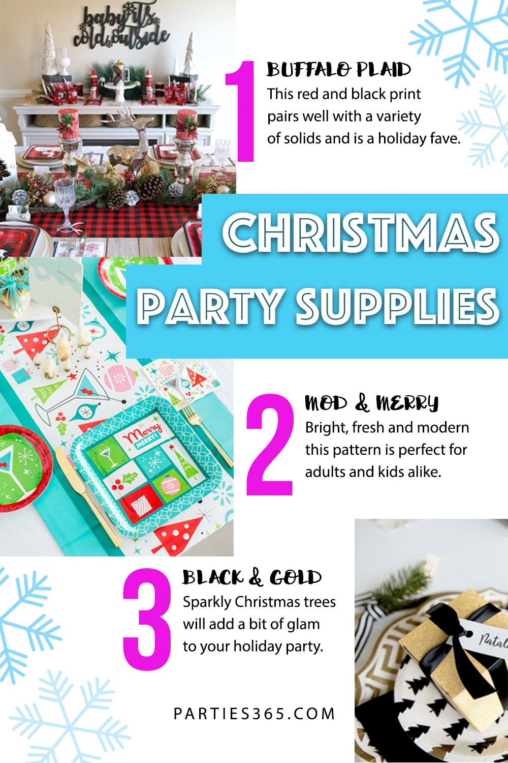 Christmas party supplies and themes