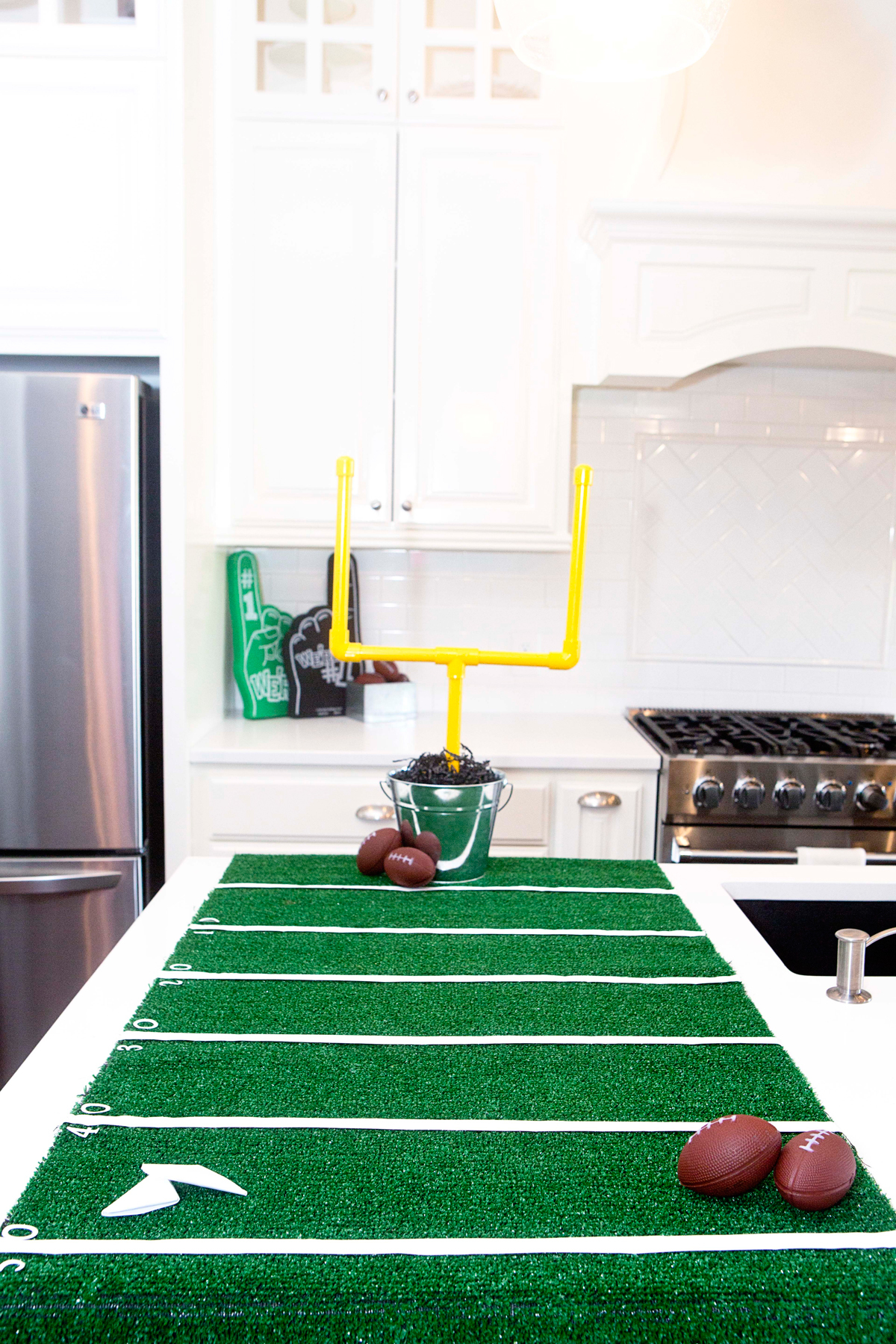 Ready to kickoff a fan-favorite football themed party for the Super Bowl, tailgating or a birthday party? We have fun football theme ideas, decor, activities, food and more! #football #superbowl #partysupplies #birthday