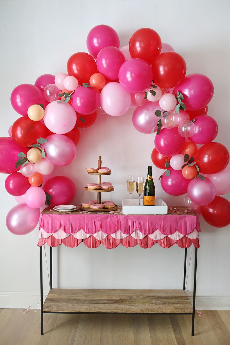 Pink Fancy Balloon Arch Parties365 Party Ideas Party Supplies