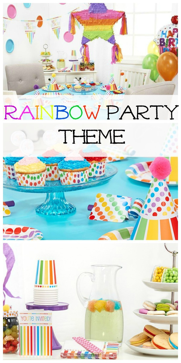 A Rainbow Themed Birthday Party Is Perfect For Little Girls Whether Its Just
