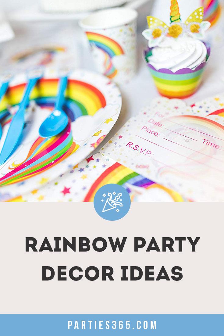 rainbow party decor ideas